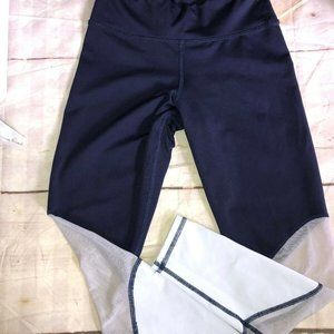 CHILL BY WILL Blue White Mesh Leggings sz 6? EUC